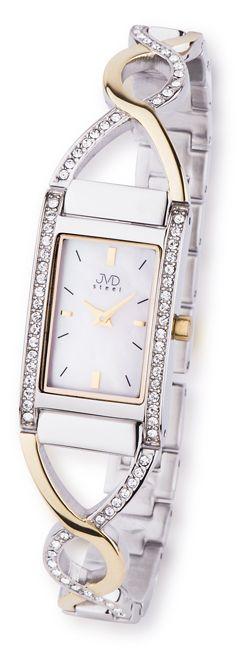 Luxusní zlato-stříbrné nerozvé dámské hodinky JVD steel JA095.2