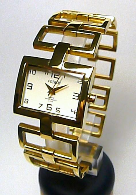 Dámské ocelové zlacené moderní hodinky Foibos 18331