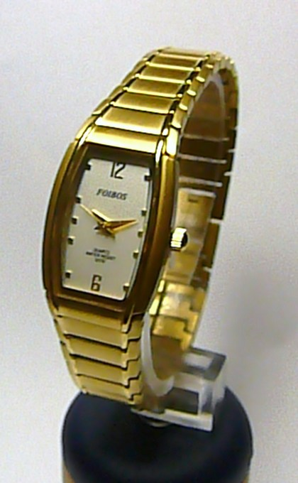 Titanové antialergické zlaté elegantní hodinky Foibos 19731