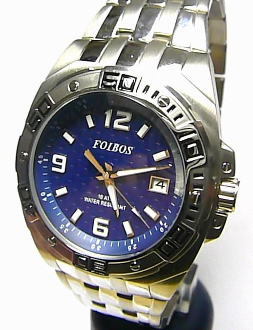 Mohutné luxusní sportovní ocelové vodotěsné hodinky Foibos 10421 - 10ATM