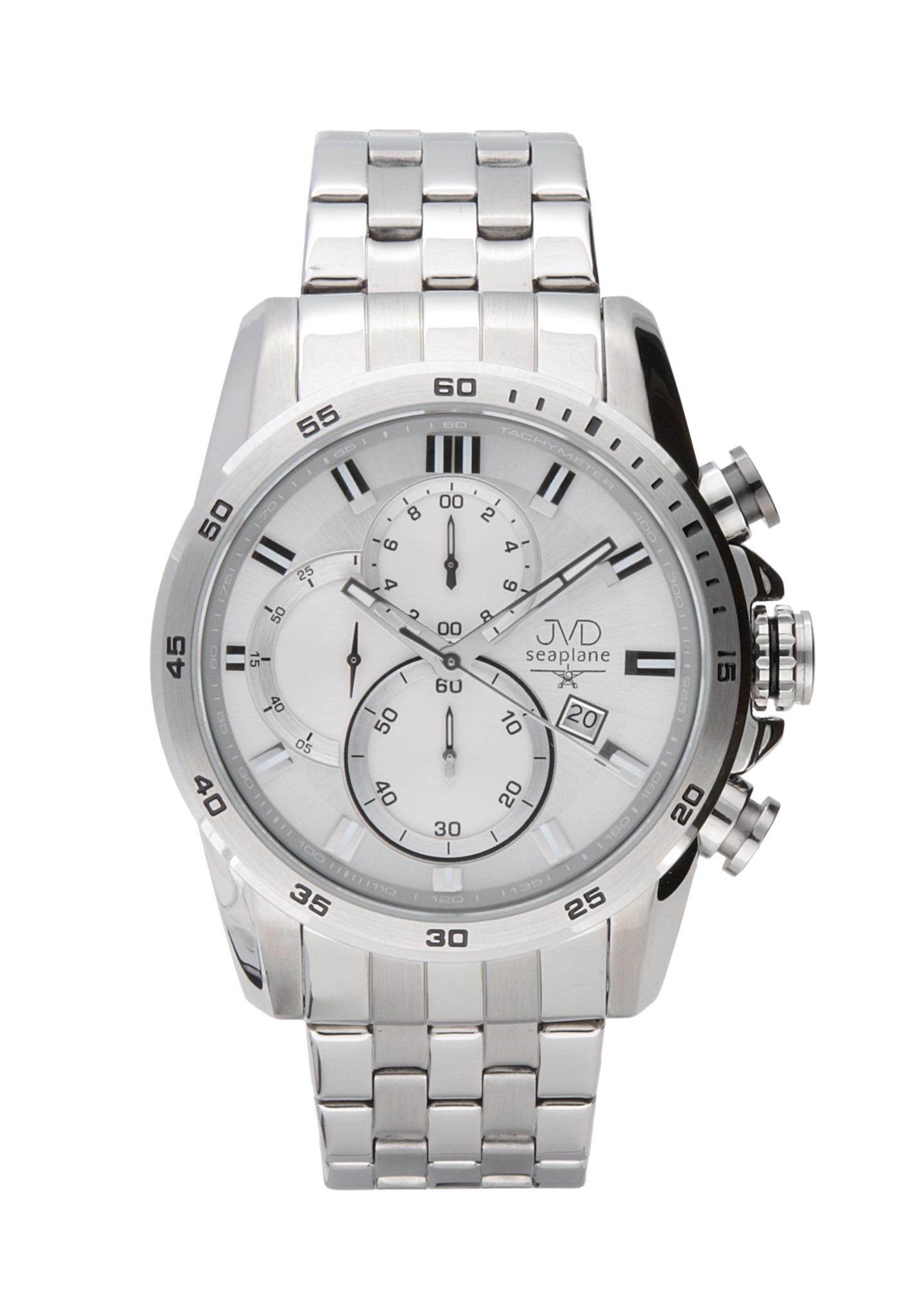 Ocelové vodotěsné chronografy náramkové hodinky JVD seaplane JS22.2 10ATM