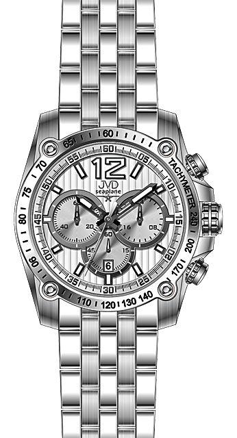 Vysoce odolné vodotěsné ocelové chronografy - hodinky JVD seaplane H20.1 10ATM
