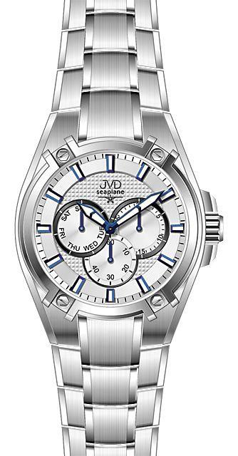 Vysoce odolné vodotěsné chronografy hodinky JVD seaplane F97.1 do extrému