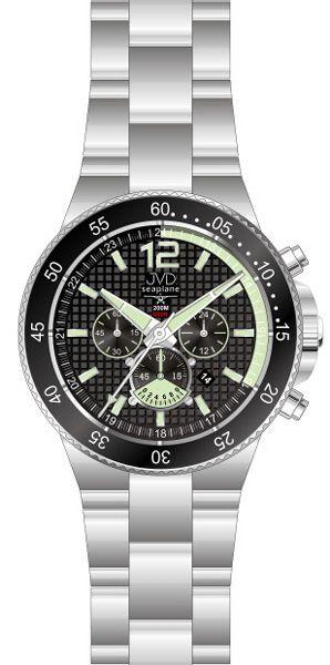 Vysoce odolné náramkové hodinky JVD Seaplane JS17.4 chornograf 20ATM