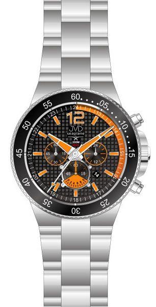 Vysoce odolné oranžové hodinky JVD Seaplane JS17.3 - chronografy 20ATM