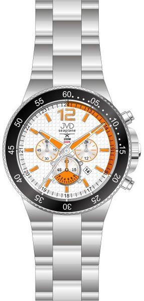 Vysoce odolné oranžové hodinky JVD Seaplane JS17.1 - chronografy 20ATM