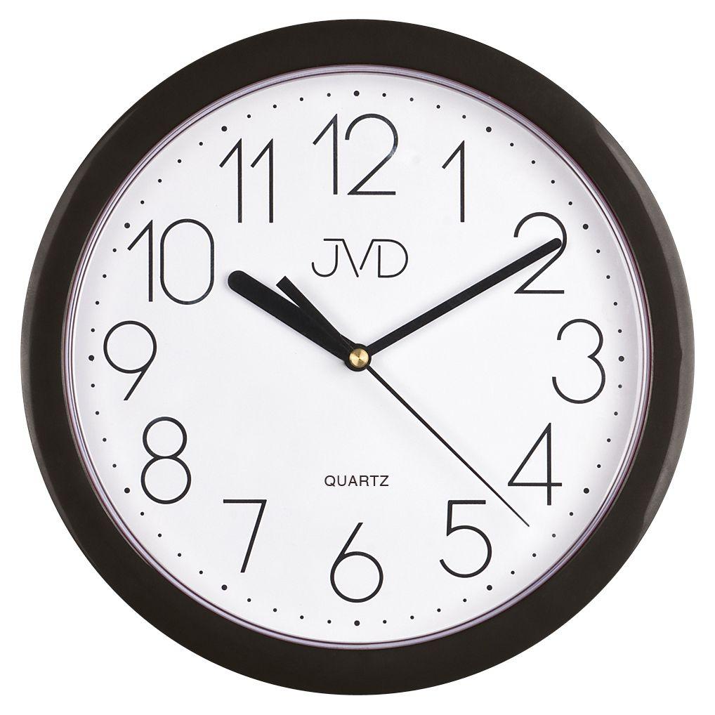 Černé moderní nástěnné netikající hodiny JVD sweep HP612. 3