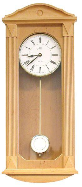 Rádiem řízené dřevěné kyvadlové nástěnné hodiny pendlovky ASSO 19/340/10R