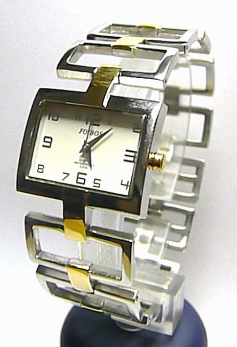 Dámské ocelové zlacené moderní hodinky Foibos 18332 - bicolor