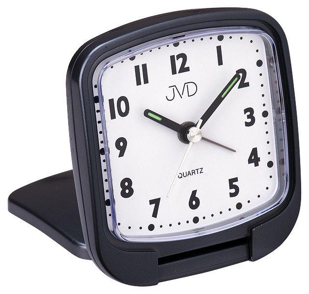 Kapesní svítící černý budík JVD SR808.3 na cesty