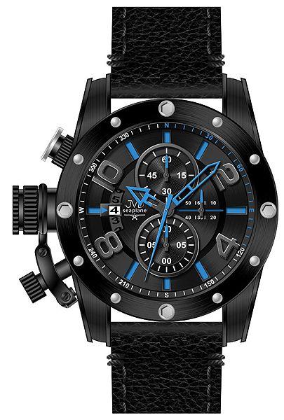 Pánský chronograf - luxusní vodotěsné hodinky JVD Seaplane W47.1 10ATM