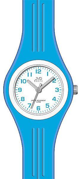 Silikonové světle modré hodinky JVD basic J7134.1 pro COOL dívky