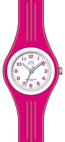 Silikonové růžovoučké hodinky JVD basic J7134.2 pro COOL dívky