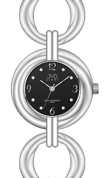 Dámské stříbrné ocelové luxusní hodinky JVD steel J4122.1 5ATM