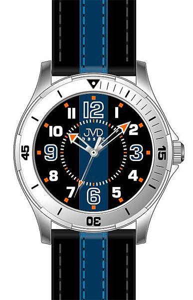 Dětské chlapecké dospělácké modro černé hodinky JVD basic W59.3