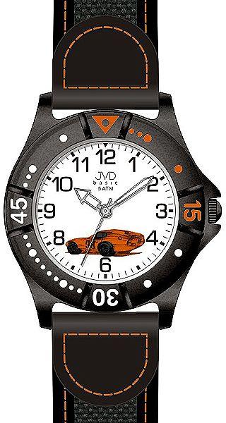 Chlapecké sportovní hodinky JVD basic J7103.4 s oranžovým závodním autem