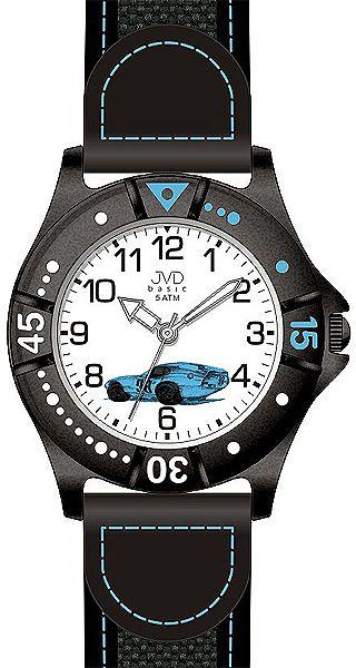 Chlapecké sportovní hodinky JVD basic J7103.5 s modrým závodním autem
