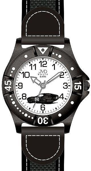 Chlapecké sportovní hodinky JVD basic J7103.6 s černým závodním autem