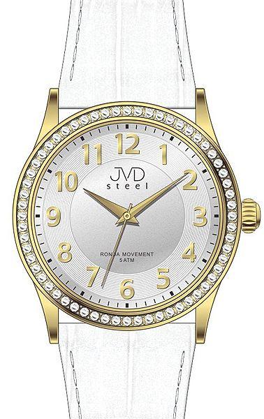 Dámské elegantní náramkové hodinky JVD steel J1085.2 se zirkony