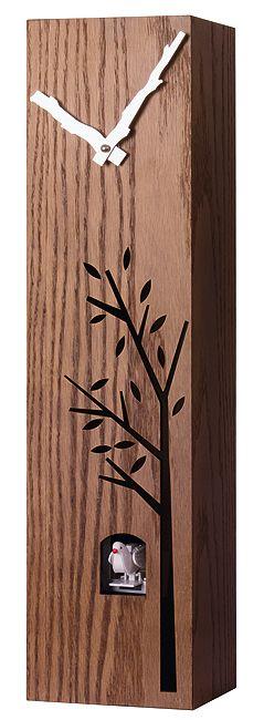 Dřevěné nadčasové moderní hranaté kukačky JVD HW65.1
