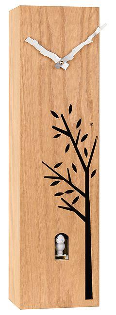 Dřevěné nadčasové moderní hranaté kukačky JVD HW65
