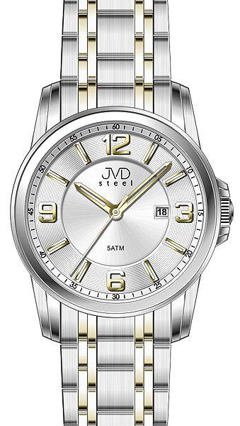 Pánské ocelové mohutné náramkové hodinky JVD steel W06.2 5ATM