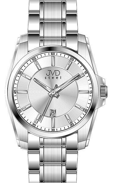 Pánské designové moderní náramkové hodinky JVD steel W03.1