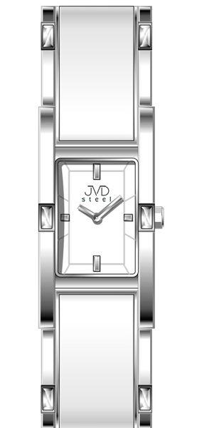 Šperkové stříbrné elegantní dámské náramkové voděodolné hodinky JVD steel W26. 1