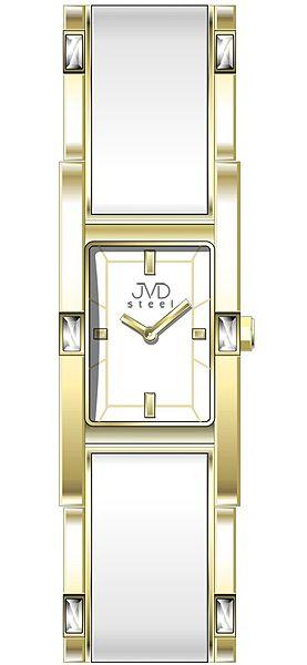 Šperkové zlacené elegantní dámské náramkové voděodolné hodinky JVD steel W26. 2hodinky JVD steel W26. 2