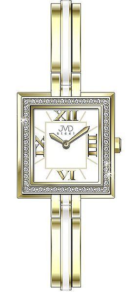 Šperkové nadčasové dámské módní náramkové hodinky JVD steel W25.2 (keramika)