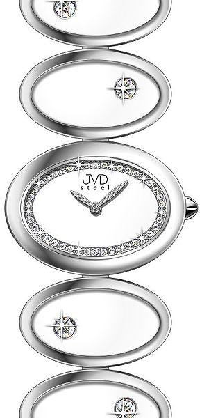 Šperkové luxusní keramické ocelové dámské náramkové hodinky JVD steel W21.1