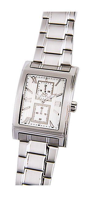 Ocelové hranaté nerezové náramkové hodinky JVD steel H01.1 5ATM ebb0d64309