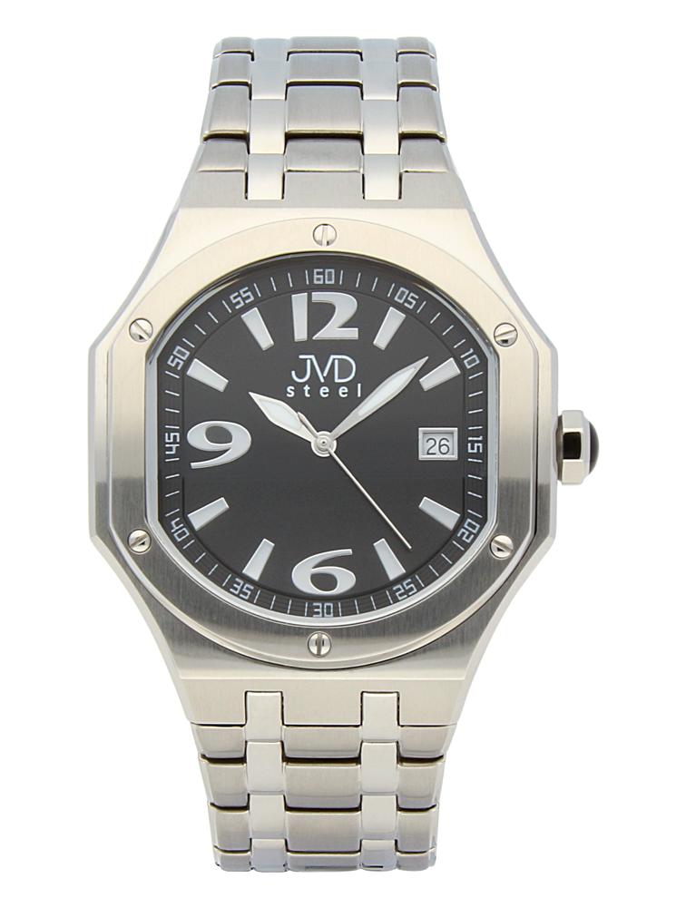 Pánský sportovní ocelový chronograf hodinky JVD steel C1128.5 - 3ATM