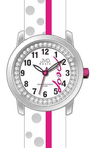 Dětské dívčí hodinky JVD basic J7137.1 zdobené kamínky pro zamilované děvčata