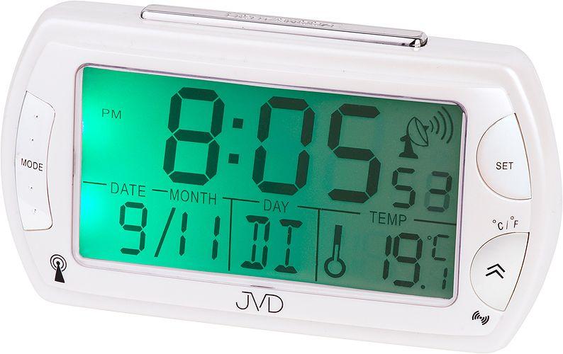 Rádiem řízený digitální budík JVD RB358.8 s teploměrem a podsvícením