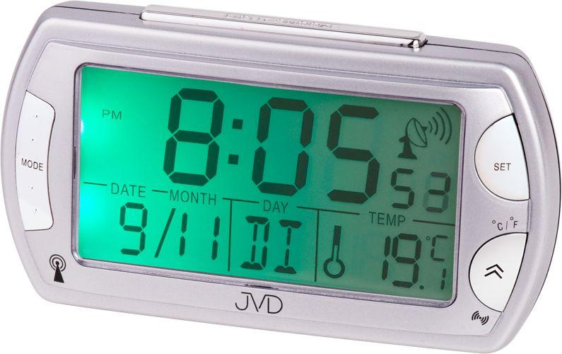 Rádiem řízený digitální budík JVD RB358.9 s teploměrem a podsvícením ( )