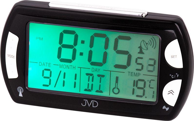 Rádiem řízený digitální budík JVD RB358.10 s teploměrem a podsvícením