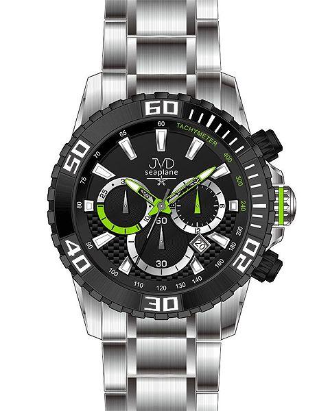 Sportovní vodotěsné ocelové chronografy hodinky JVD Seaplane J1089.1 - 10ATM