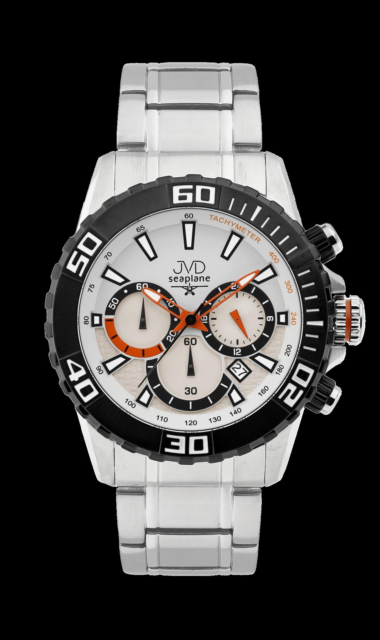 Sportovní vodotěsné ocelové chronografy hodinky JVD Seaplane J1089.3 - 10ATM (POŠTOVNÉ ZDARMA!!)