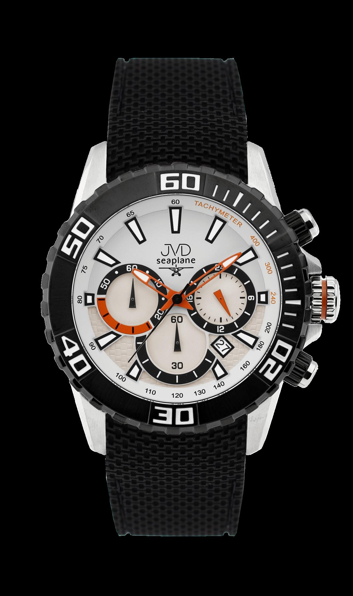 Vysoce odolné spotovní vodotěsné hodinky - chronograf JVD Seaplane J1090.1 (POŠTOVNÉ ZDARMA!!)