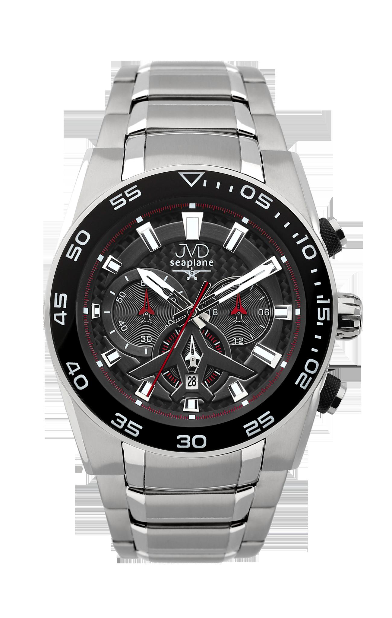 Luxusní vodotěsné sportovní hodinky JVD seaplane W49.3 chornograf se stopkami (POŠTOVNÉ ZDARMA!!)
