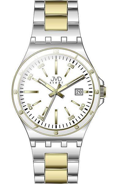 Pánské elegantní náramkové hodinky JVD steel W57.2 s datumovkou 9db401f9f5
