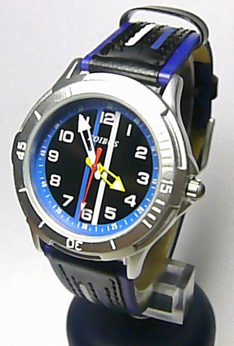 Chlapecké dětské sportovní modročerné moderní hodinky Foibos 2067.1