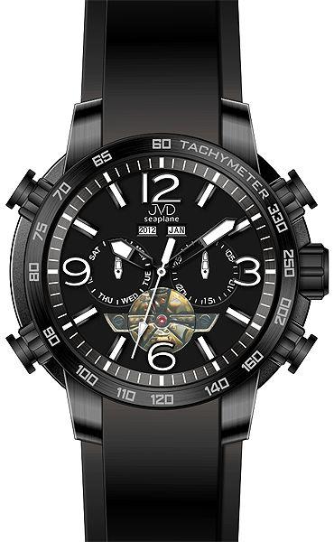 Vodotěsné chronograf hodinky JVD Seaplane W50.1 10ATM AUTOMATY (bez baterie)