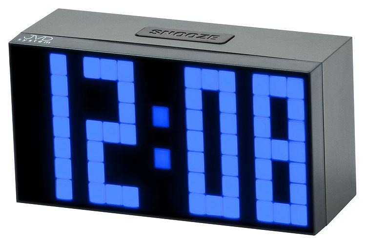 Svítící moderní digitální budík JVD SB2083.1 s modrými číslicemi NOVINKA 2014