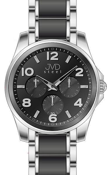 Pánský luxusní chronograf náramkové voděodolné hodinky JVDW 56.6 (55)