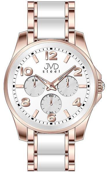 Pánský luxusní chronograf náramkové voděodolné hodinky JVDW W56.7 (55)
