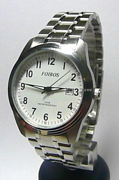 Ocelové voděodolné pánské čitelné hodinky Foibos 6299.1 - 5ATM