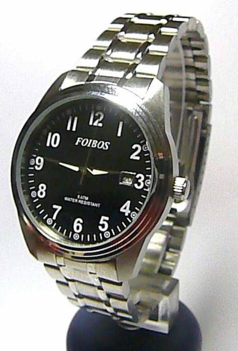 Ocelové voděodolné pánské čitelné hodinky Foibos 6299.2 - 5ATM
