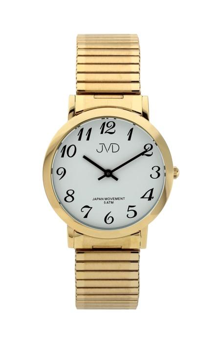 Dámské kovové zlacené hodinky JVD steel J1048.2